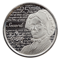 2013 Canada Secord 25-cents Brilliant Uncirculated (MS-63)
