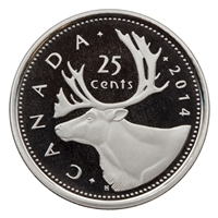 2014 Canada 25-cents Proof (non-silver)