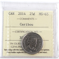 2014 Canada Caribou 25-cents ICCS Certified MS-65