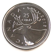 2015 Canada Caribou 25-cents Brilliant Uncirculated (MS-63)