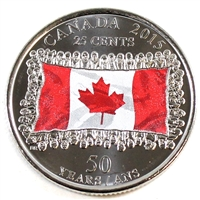 2015 Canada Coloured Flag 25-cents Brilliant Uncirculated (MS-63)