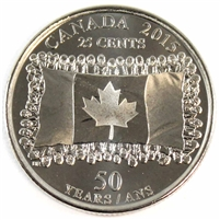 2015 Canada Flag 25-cents Brilliant Uncirculated (MS-63)