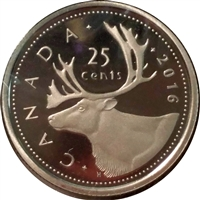 2016 Canada 25-cents Proof (non-silver)