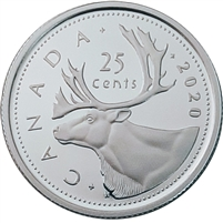 2020 Canada 25-cents Silver Proof (No Tax)