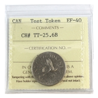 (1965) Canada 25-cents Test Token TT-25.6B ICCS Certified EF-40