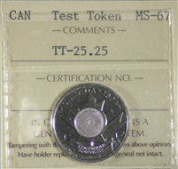 (2004) Canada 25-cents Test Token TT-25.25 ICCS Certified MS-67