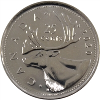 2020 Canada 25-cents Brilliant Uncirculated (MS-63)