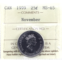 1999 November Canada ICCS Certified MS-65