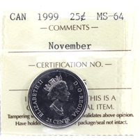 1999 November Canada ICCS Certified MS-64