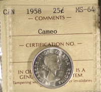 1955 Canada 25-Cents ICCS Certified PL-65 Ultra Heavy Cameo
