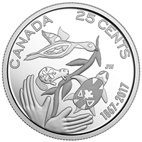 2017 Hope For a Green Future Canada 25 Cents Silver Proof