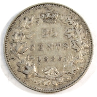 1886 Normal 6 Obv. 2 SBE Canada 25 Cents Very Fine (VF-20) $