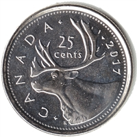 2017 Caribou Canada 25 Cents Brilliant Uncirculated (MS-63)