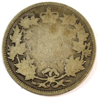 1885 Canada 25 Cents About Good (AG-3) $