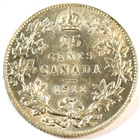 1912 Canada 25 Cents UNC+ (MS-62)