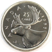 1955 Canada 25 Cents Proof Like
