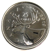 2019 Canada 25 Cents Brilliant Uncirculated (MS-63)