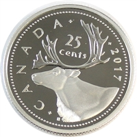 2017 Caribou Canada 25 Cents Silver Proof