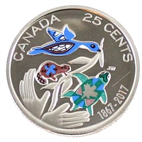 2017 Coloured Hope Canada 25 Cents Proof (Non-Silver)