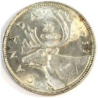 1939 Canada 25 Cents UNC+ (MS-62) $