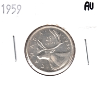1959 Canada 25 Cents Almost Uncirculated (AU-50)