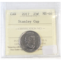 2017 Canada Stanley Cup 25-cent ICCS Certified MS-66
