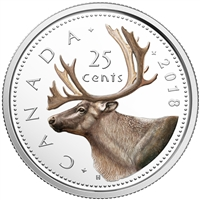 2018 Canada 25 Cents Coloured Silver Proof