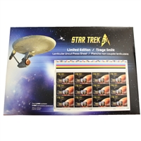 Star Trek Lenticular Canada Post Stamp Set. Only 2000 made!