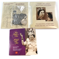 Once Upon a Time 10-coin Keepsake Booklet Queen Elizabeth II's 50 Year Reign