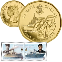 2010 Canada 100th Anniversary of the Canadian Navy Coin and Stamp Set