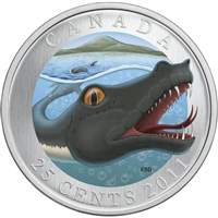 2011 25-cent Canadian Mythical Creatures - Memphre