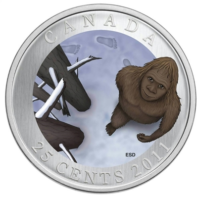 2011 25-cent Canadian Mythical Creatures - Sasquatch