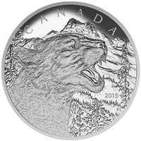 2015 Canada $125 Growling Cougar 1/2 Kilo Fine Silver (No Tax)