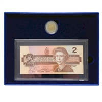 1996 Canada $2 Proof & BRX Replacement Note Set in Original Blue Box (Light Wear)