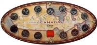 1999 Canada Millennium Oval 25-cents Set with Token