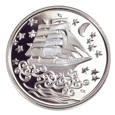 2002 Canada 50-cent Folklore - The Ghost Ship Sterling Silver