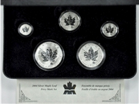 2004 Canada RCM Privy Mark Silver Maple Leaf 5-coin Set (No Tax)