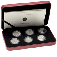2005 Canada 50-cent Battle of Britain 6-coin Sterling Silver Set (Worn outer cardboard)