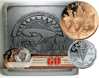 2005 Canada 60th Anniversary of VE Day Proof 5-cent and Medallion Set