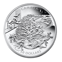 2006 Canada $50 The Four Seasons 5oz. Fine Silver (No Tax) scratched capsule
