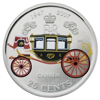 2007 Canada 25-Cents - The Queen's 60th Wedding Anniversary.