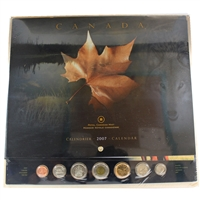 2007 RCM Calendar with Uncirculated Coin Set