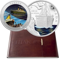 2012 Canada Titanic 2-Coin & Stamp Collector's Set (1912-2012) worn outer sleeve