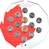 2007-2010 Olympic Vancouver 14-coin Hexagon Shaped Collector Board