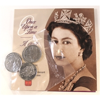 Once Upon a Time 5-coin Keepsake Booklet Queen Elizabeth II's 50 Year Reign