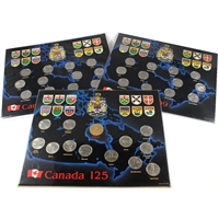 Lot of 3x 1992-2000 Canada Commemorative Collections in Display Boards, 3Pcs
