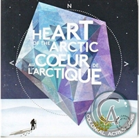 2013 Canada Heart of the Arctic 25-cent 4-coin Set in Folder (Residue or Light Wear)