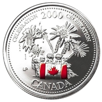 2000 Coloured Canada Day 25-cents - Celebration