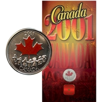 2001 Canada Day Coloured 25 Cents - Spirit
