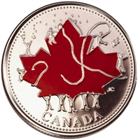 2002 Canada Day Coloured 25-cents